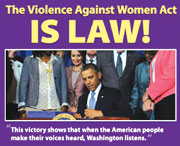 STRONGER VIOLENCE AGAINST W Stronger violence against Women Act signed into law