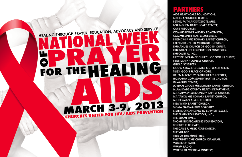 churches united 2013 The National Week of Prayer for the Healing of AIDS