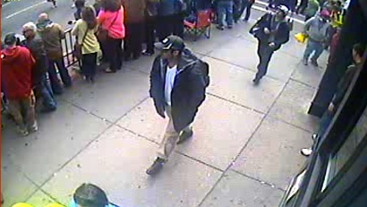 Boston bombings suspects video grab jpg FBI Releases Photos of Suspects at Briefing