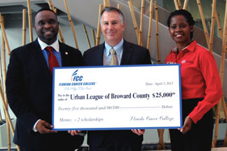 FLORIDA CAREER Photo 2 Co Florida Career College donates $25,000 to Urban League of Broward County