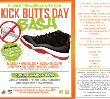 You are invited…Kick Butts Day Bash – April 13