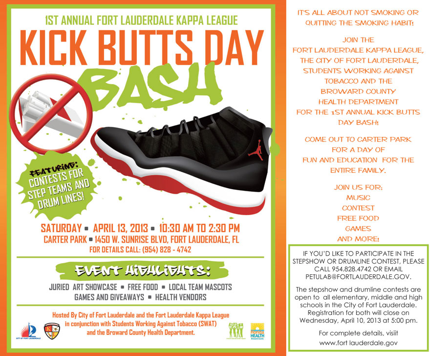 kick butts day You are invited...Kick Butts Day Bash   April 13