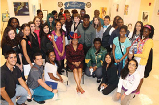 2013 District 24 participants with Congresswoman Wilson
