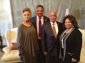 The Jackson family meet with South Africa President Jacob Zuma