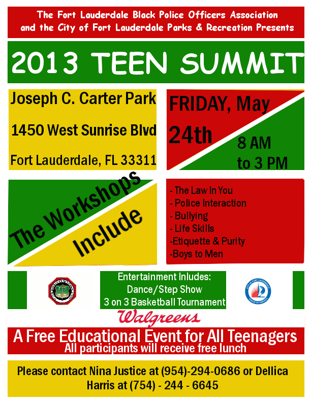 TeenSummit2013flyer FLBPOA: Teen Summit Flyer