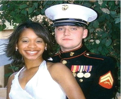 Sgt. Pietrzak, and his wife Quiana