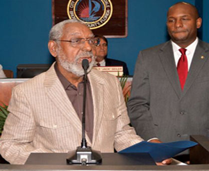 Beuerguard Cummings and Commissioner Bobby DuBose