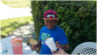 Eight Years Old Girl Eight year old uses kool aid stand to raise money for grandmother's funeral