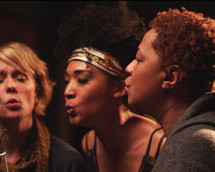 "Background Singers Jo Lawry, Judith Hill and Lisa Fischer in ""Twenty Feet from Stardom."""