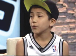 MEXICAN BOY Mexican boy gets racist tweets when singing the National Anthem at the NBA Finals