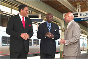 Former (from l) Bill Costen, Thomas Dunn, and E. Donald Hughes, II
