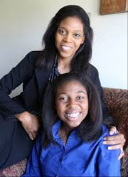 Thessalonika Arzu-Embey and her mother Wonder Embey