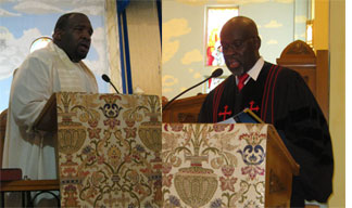 Bahamas Father Denrick Rolle and Rev. Jerome Symonette