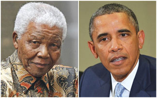 Nelson Mandela and President Barack Obama