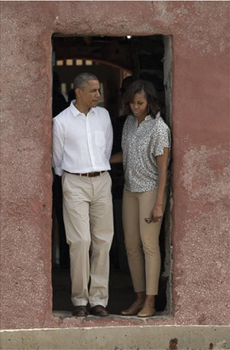 President Barack and First Lady Michelle Obama