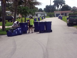 Carts City of Lauderdale Lakes distributes new recycling carts