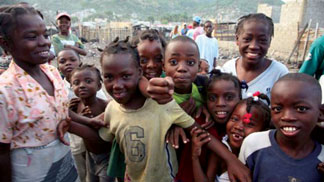 Children in Haiti 2006 (photo by Peter Hallward,  courtesy of the Institute for Justice and Democracy in Haiti, IJDH)