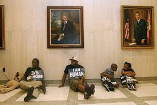 DREAM DEFENDERS 'Dream Defenders' continue sit in in Florida's Governor's office