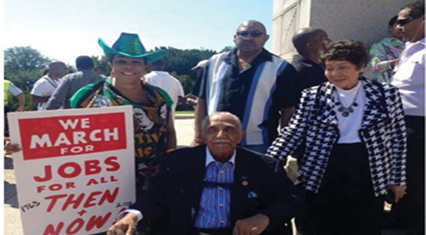 """Congressional Frederica S. Wilson and civil rights leader Rev. Joseph Lowery, join thousands commemorating at  50th Anniversary of """"The March On Washington"""""""