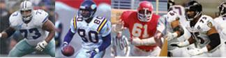 Larry Allen, Cris Carter, Curley Culp and Jonathan Ogdent