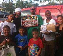 Gregg with Jet Lyfe Entertainment giving away back to school supplies