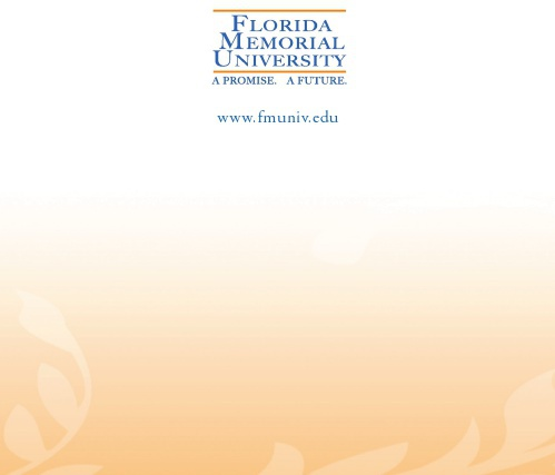 MemorialGalaInvitation 5 Florida Memorial University Scholarship Gala