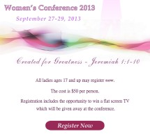 Register Today for Women of Destiny 2013