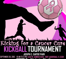 Kicking for a Cancer Cure Kickball Tournament