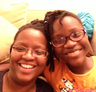 TaNoah Morgan and her daughter Noelle