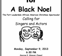 Auditions for A Black Noel!