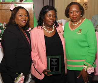 Jennifer Tims, Dr. Barbara J. Thomas and Marsha Lewis Brown