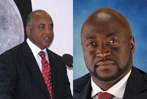 Former Broward County Commissioner Josephus Eggelletion and OIC CEO Newton Sanon