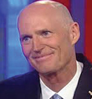 GOV. RICK SCOTT 2 While putting the kibosh on Obamacare, Gov. Rick Scott continues to press for more corporate tax breaks