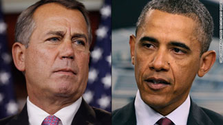 President Barack Obama and John Boehner