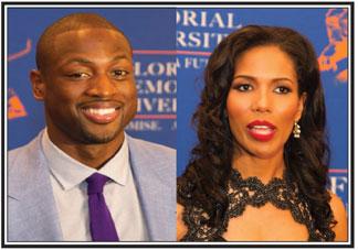 Miami Heat Dwayne Wade and FAMU Interim President Dr. Rosalyn Clark Artis