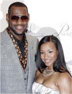 LeBron James and wife Savannah