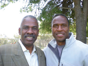The author with former client Willie Gault