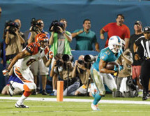 Dolphins edge Bengals in OT