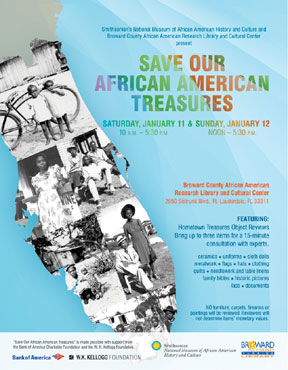 Flyer 111413 final medium P Broward County Library and Smithsonian to present Save Our African American Treasures