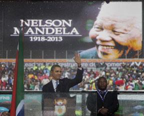 Obama South President Obama praises Mandela as 'Great Liberator'