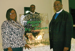 Jennifer Carson Green wife and Phillip Green, son  and Rev. Henry F. Green, Jr.