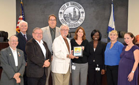 City of North Lauderdale Co Florida Department of Health in Broward County commends City of North Lauderdale for new smoke free workplace policy