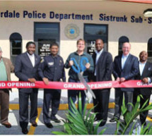 The City of Fort Lauderdale Police Department celebrate the grand opening