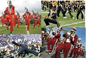 Marching 100 of Florida A&M Univerisity, Jackson State Marching Band, Alabama State Marching Band and Alabama A&M Universities Marching Band