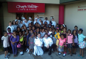 IMPACT GIRLS Impact Girls have their first 'Power Lunch' at the Chef's Palette