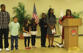 """Mayor """"Lady"""" Myra Taylor delivered a rousing State of the City Address."""