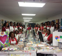 AKA's pink goes red paint party