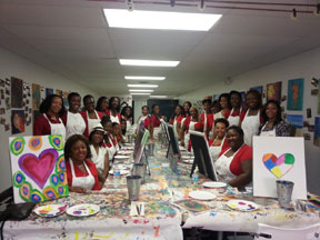 AKA AKA's pink goes red paint party