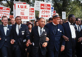 Dr.Martin Luther King, Jr. leads March for Civil Rights ... The March On Washington for jobs and freedom took place in Washington, D.C., on Aug. 28, 1963.