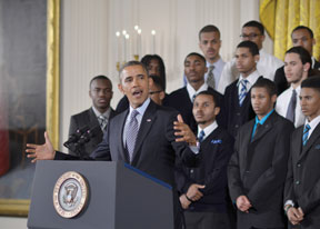 OBAMA TRIES Obama tries to add substance to male initiative